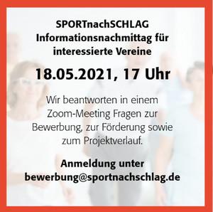 E-Mail an bewerbung@sportnachschlag.de
